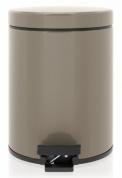 Подробнее о Ведро мусорное Brabantia 425028 с педалью (5 литров Taupe (темно-серый