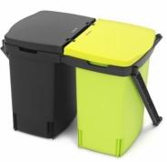 Подробнее о Ведро мусорное Brabantia 482205 (2х10 литров встраиваемое Black (черный