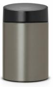 Подробнее о Ведро мусорное Brabantia Slide Bin 483141 (5 литров Platinum (платина