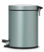 Подробнее о Ведро мусорное Brabantia 484087 с педалью (5 литров Мятный металлик