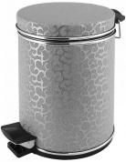Подробнее о Ведро Cameya 03FHH-9 для мусора (3 литра) экокожа цвет серебро/молдинг хром
