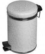 Подробнее о Ведро Cameya 03FWH-10-9 для мусора (3 литра) белый/хром