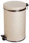 Подробнее о Ведро Cameya 03LH-10-9 для мусора (3 литра) бежевый/хром