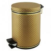 Подробнее о Ведро Cameya 03PBB-9 для мусора (3 литра) экокожа бронза/молдинг бронза