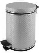 Подробнее о Ведро Cameya 03PLH-9 для мусора (3 литра) экокожа цвет бежевый/молдинг хром