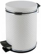 Подробнее о Ведро Cameya 03PWH-9 для мусора (3 литра) экокожа цвет белый/молдинг хром