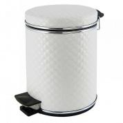 Подробнее о Ведро Cameya 03WHC-9 для мусора (3 литра) стеганая цвет белый/молдинг хром