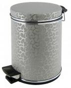 Подробнее о Ведро Cameya 05FHH-9 для мусора (5 литров) экокожа цвет серебро/молдинг хром