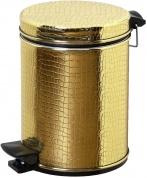Подробнее о Ведро Cameya 05GKR-10-9 для мусора (5 литров) экокожа `крокодил` золото