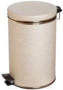 Подробнее о Ведро Cameya 05LG-10-9 для мусора (5 литров) бежевый/золото