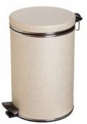 Подробнее о Ведро Cameya 05LH-10-9 для мусора (5 литров) бежевый/хром