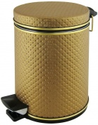 Подробнее о Ведро Cameya 05PBB-9 для мусора (5 литров) экокожа бронза/молдинг бронза
