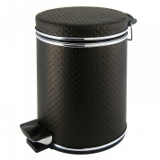 Подробнее о Ведро Cameya 05PCH-9 для мусора (5 литров) экокожа цвет шоколадный/молдинг хром