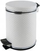 Подробнее о Ведро Cameya 05PWH-9 для мусора (5 литров) экокожа цвет белый/молдинг хром