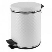 Подробнее о Ведро Cameya 05WHC-9 для мусора (5 литров) стеганая цвет белый/молдинг хром