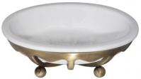 Подробнее о Мыльница Cameya Deco 10T6-40 настольная бронза/керамика белая