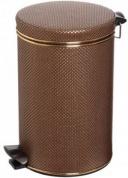 Подробнее о Ведро Cameya 12DG-10-9 для мусора (12 литров) коричневый/золото