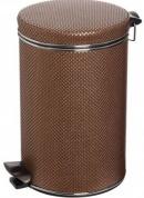 Подробнее о Ведро Cameya 12DH-10-9 для мусора (12 литров) коричневый/хром