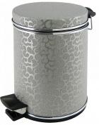 Подробнее о Ведро Cameya 12FHH-9 для мусора (12 литров) экокожа цвет серебро/молдинг хром