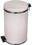 Подробнее о Ведро Cameya 12FLH-10-9 для мусора (12 литров) бежевый/хром