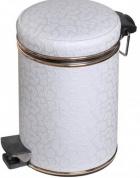 Подробнее о Ведро Cameya 12FWG-10-9 для мусора (12 литров) белый/золото