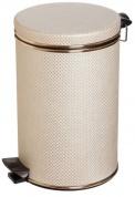 Подробнее о Ведро Cameya 12LG-10-9 для мусора (12 литров) бежевый/золото
