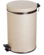 Подробнее о Ведро Cameya 12LH-10-9 для мусора (12 литров) бежевый/хром