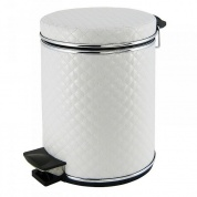 Подробнее о Ведро Cameya 12WHC-9 для мусора (12 литров) стеганая цвет белый/молдинг хром
