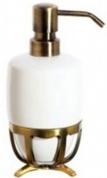 Подробнее о Дозатор жидкого мыла Cameya Deco 19T6-40-N настольный бронза/керамика белая