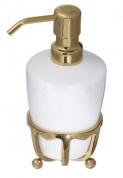 Подробнее о Дозатор жидкого мыла Cameya Deco 19T6-40 настольный бронза/керамика белая
