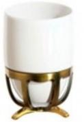 Подробнее о Стакан Cameya Deco 20T6-40-N настольный бронза/керамика белая