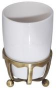Подробнее о Стакан Cameya Deco 20T6-40 настольный бронза/керамика белая