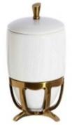 Подробнее о Контейнер Cameya Deco 50T6-40-N настольный бронза/керамика белая