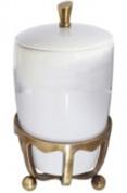 Подробнее о Контейнер Cameya Deco 50T6-40 настольный бронза/керамика белая