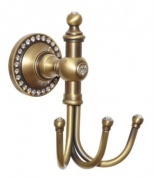 Подробнее о Крючок Cameya A1401-3 тройной бронза/Swarovski