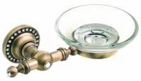 Подробнее о Мыльница Cameya A1403 настенная бронза/Swarovski/стекло