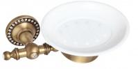 Подробнее о Мыльница Cameya A1403KO настенная бронза/Swarovski/керамика барокко