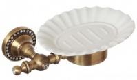 Подробнее о Мыльница Cameya A1403KOB настенная бронза/Swarovski/керамика барокко