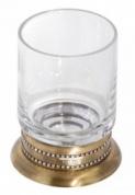 Подробнее о Стакан Cameya A1414 настольный бронза/Swarovski/стекло прозрачное