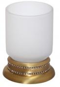 Подробнее о Стакан Cameya A1414M настольный бронза/Swarovski/стекло матовое