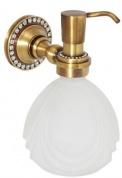 Подробнее о Дозатор жидкого мыла Cameya A1417 настенный бронза/Swarovski/стекло матовое