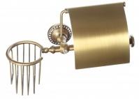 Подробнее о Бумагодержатель Cameya A1426 с держателем освежителя воздуха бронза/Swarovski