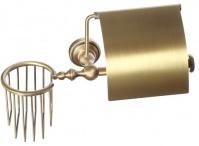 Подробнее о Бумагодержатель Cameya Rychmond A1626 с держателем освежителя воздуха бронза