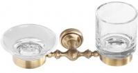 Подробнее о Стакан и мыльница Cameya Rychmond A1634 настенные бронза/стекло