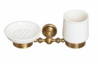 Подробнее о Стакан и мыльница Cameya Rychmond A1634KO настенные бронза/керамика