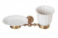 Подробнее о Стакан и мыльница Cameya Rychmond A1634KOB настенные бронза/керамика барокко