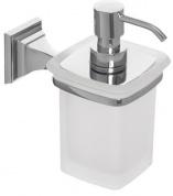 Подробнее о Дозатор жидкого мыла Cameya Boston H1521 настенный хром/стекло матовое