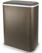 Подробнее о Корзина Cameya PCH-BG для белья 45 х h60 x 32 см глубокая цвет шоколад (узор точки)/хром