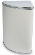 Подробнее о Корзина угловая Cameya Y-PWH-B для белья 36 х h58 см цвет белый/узор точки/кант хром
