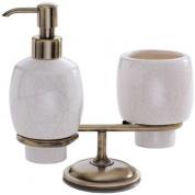 Подробнее о Стакан и дозатор Carbonari Teresa Anticata PATE2 ANT BR настольные античная бронза / керамика белая